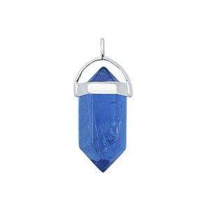 Pingente Pequeno Pedra Ágata Azul - Prata 925