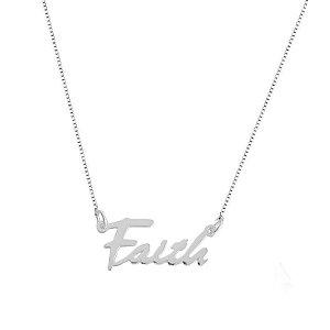 COLAR ESCRITO FAITH - PRATA 925