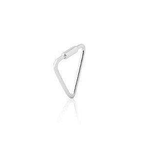 Piercing De Furo Triângulo - Prata 925