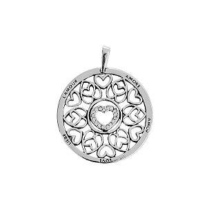 Pingente Mandala Coração Amor - Prata 925