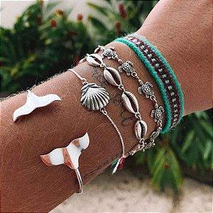 Bracelete Cauda De Sereia - Prata 925