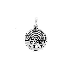 PINGENTE RADIATE POSITIVITY - PRATA 925