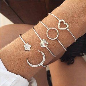 Bracelete Coração - Prata 925