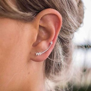 Ear Cuff Flecha - Prata 925