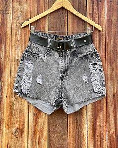 Short Jeans Black Belt