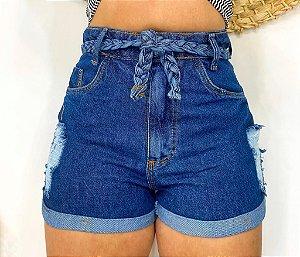 Short Jeans Cinto Trançado