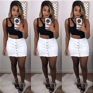 Saia Jeans Branca (Carmen)