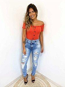 Calça Jeans Destroyed Carmen