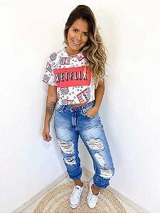 Calça Jeans Bomber Carmen