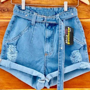 Short Jeans Cinto Barrinha