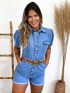 Macaquinho Jeans Princess