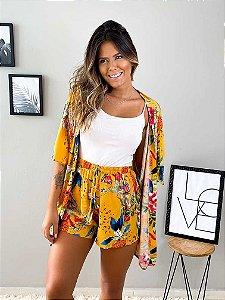 Conjunto Floral (Kimono + Short)