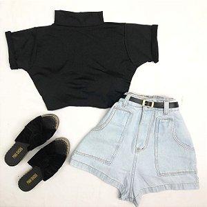 Short Jeans Claro Cintinho