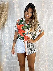 Camisa Tropical Oncinha
