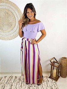 Calça Pantalona Aquarela