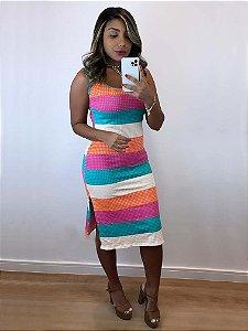 Vestido Listras Colors