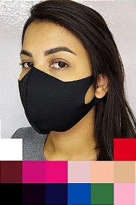 Máscara Neoprene Adulto Lisa - Cores Variadas