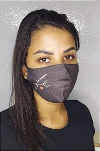 Máscara de Proteção Dupla Sublimada - Linha Religiosa - Fé com Coração