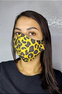 Máscara de Proteção Dupla Sublimada - Onça