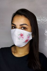 Máscara de Proteção Dupla Sublimada - Rosas