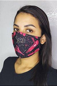 Máscara de Proteção Dupla Sublimada - Salão de Beleza