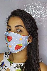 Máscara de Proteção Dupla Sublimada - Morangos