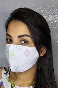 Máscara de Proteção Dupla Sublimada - Pata de Cachorro