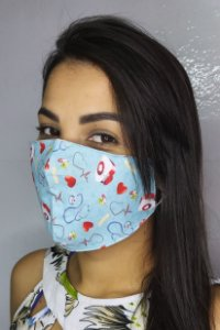 Máscara de Proteção Dupla Sublimada - Hospital