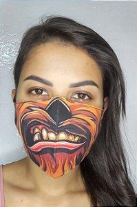 Máscara de Proteção Dupla Sublimada - Chewbacca