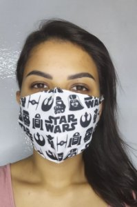 Máscara de Proteção Dupla Sublimada - Star Wars