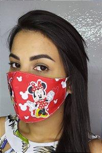 Máscara de Proteção Dupla Sublimada - Minnie