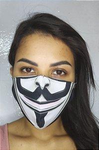 Máscara de Proteção Dupla Sublimada - Anonimos