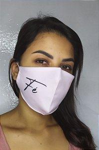 Máscara de Proteção Dupla Sublimada - Fé Rosa