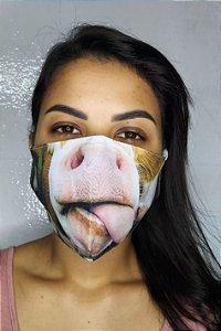 Máscara de Proteção Dupla Sublimada - Lingua da Vaca