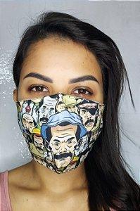 Máscara de Proteção Dupla Sublimada - Senhor Madruga