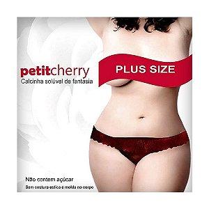 Calcinha Comestível Petit Cherry Plus Size - Sabores Variados