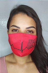 Máscara de Proteção Dupla Sublimada - Flamengo