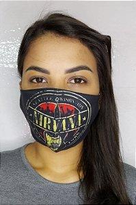 Máscara de Proteção Dupla Sublimada - Nirvana