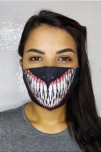Máscara de Proteção Dupla Sublimada - Dentes