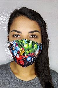 Máscara de Proteção Dupla Sublimada - Vingadores