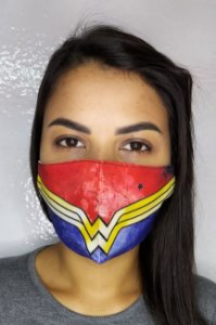 Máscara de Proteção Dupla Sublimada - Mulher Maravilha