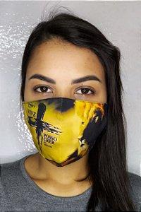 Máscara de Proteção Dupla Sublimada - Linha Religiosa - Porque ele vive posso crer no amanhã