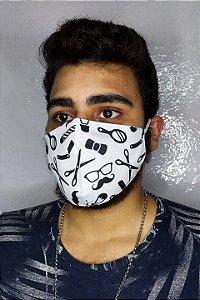 Máscara de Proteção Dupla Sublimada - Barbeiro