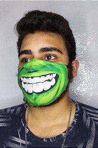 Máscara de Proteção Dupla Sublimada - Hulk