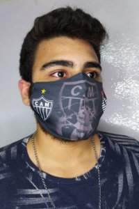Máscara de Proteção Dupla Sublimada - Atlético