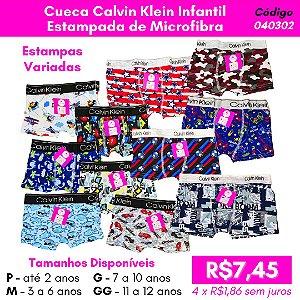 Cueca Calvin Klein Infantil Estampada - Estampa Sortida