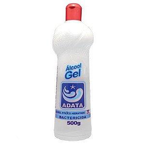 Álcool Gel 500ML 70% Bactericida Adata