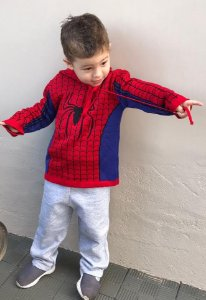 Blusa de Frio Tricô Infantil Homem Aranha