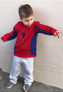 Blusa Tricot Infantil Homem Aranha