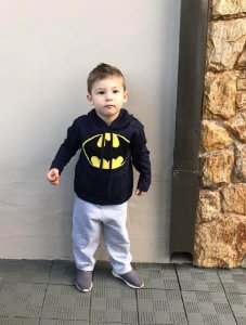 Blusa Tricot Infantil Com Capuz Batman